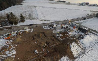 Feuerwehrhausneubau – Fortschritt Februar 2018