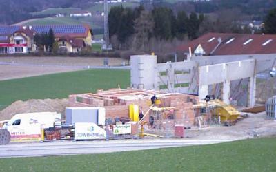 Feuerwehrhausneubau – Fortschritt April 2018