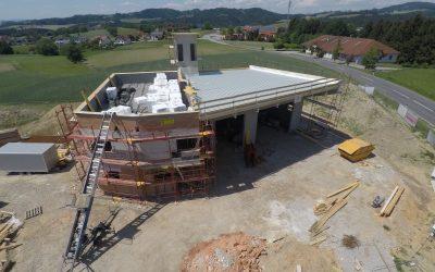 Feuerwehrhausneubau – Fortschritt Mai 2018