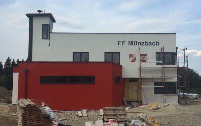 Feuerwehrhausneubau – Fortschritt August 2018