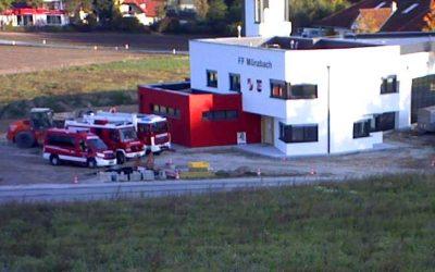 Feuerwehrhausneubau – Fortschritt Oktober 2018