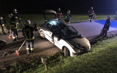 Verkehrsunfall Aufräumarbeiten, 05.09.2020