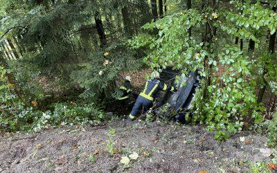 Verkehrsunfall Aufräumarbeiten, 13.10.2021